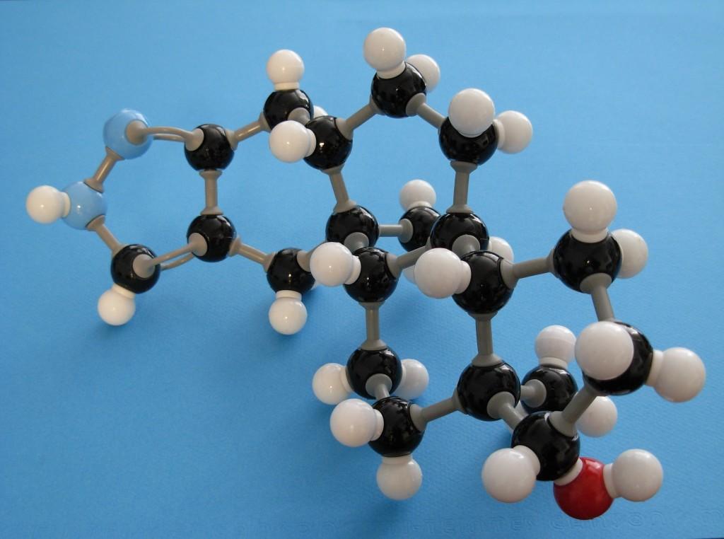 Stanozolol molecule (seen from down under)